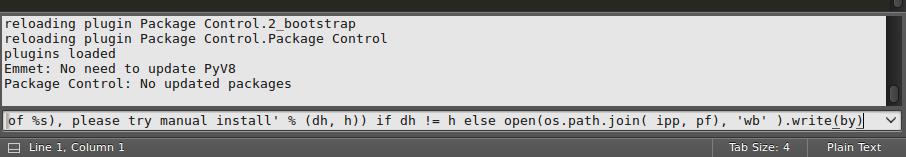 فعال سازی گزینه Package Control در sublime text