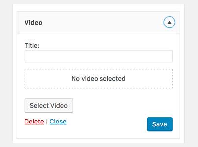 افزودن ابزارک ویدئو در وردپرس
