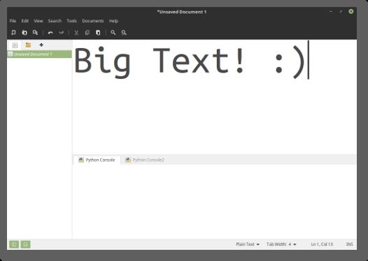 تغییر رابط کاربری XED در لینوکس مینت