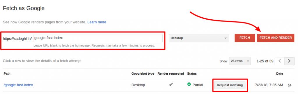 ایندکس سریع مطالب در گوگل | ترفند ایندکس سریع در گوگل