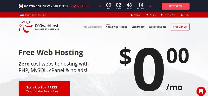 بهترین هاست رایگان خارجی 000webhost.com