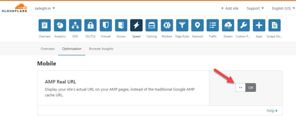 cloudflare AMP
