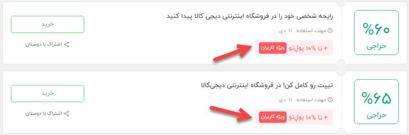 نمایش کد تخفیف فقط به کاربران وارد شده